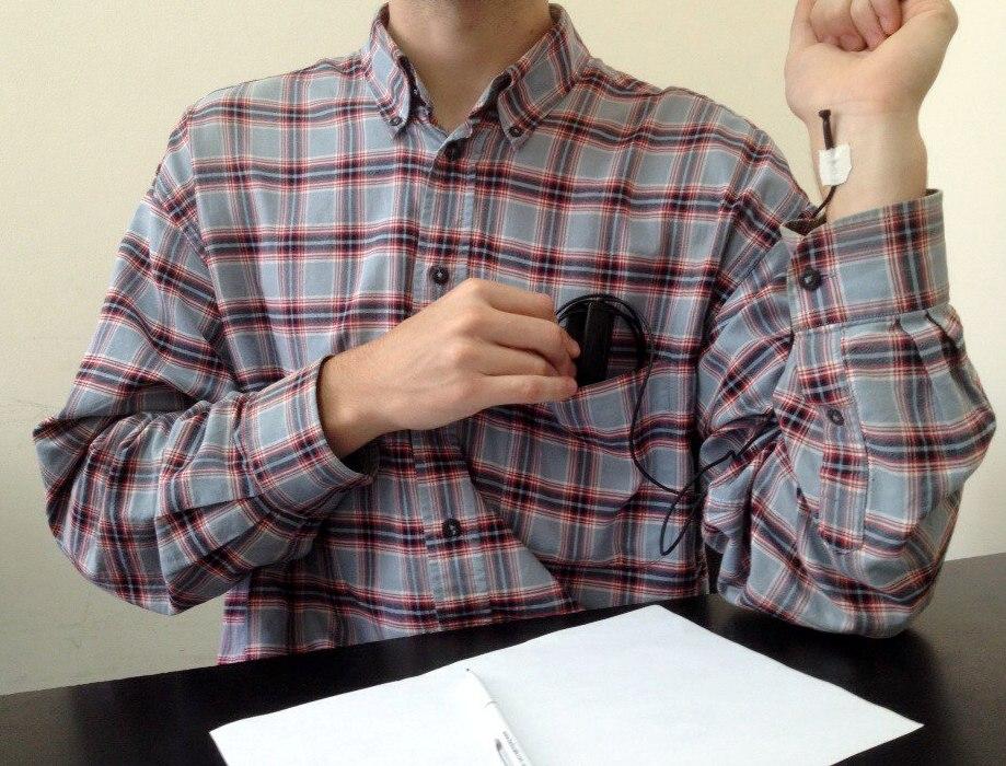 Plantronics Power в нагрудном кармане