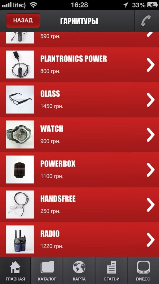 Мобильное приложение. Список товаров