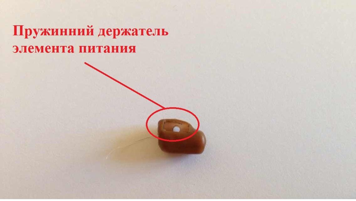 Изображение пружинного держателя элемента питания